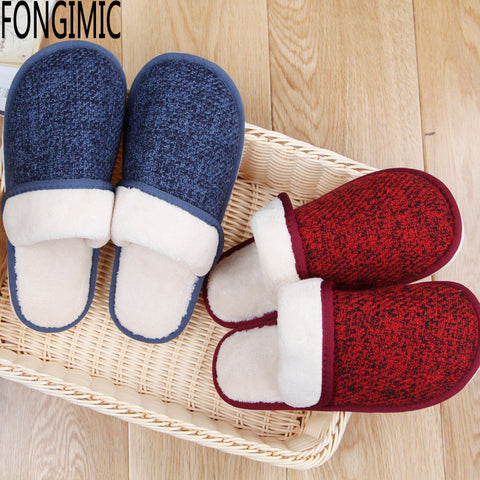 Unisex Men Women Casual Wear Shoes Autumn Winter Couple Slipper