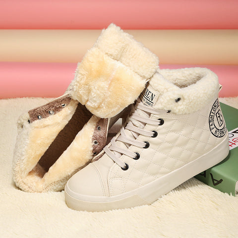 winter sweet gentle women round toe snow boots casual