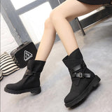 fashion women shoes casual zapatos snow boots PU leather