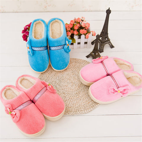Indoor Casual Wear Slippers Hogh Heel Warm Shoes Sweet