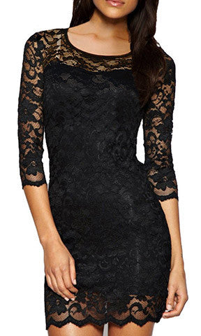 Bodycon Peplum Flower Lace Dress Floral Vestidos Slash o-neck Sexy Short