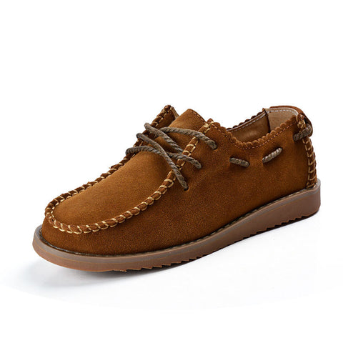 leather soft  oxford Moccasins ladies lace up