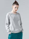 Sweatshirts Women O-Neck Long Sleeve Solid Casual Pullovers Tops Female