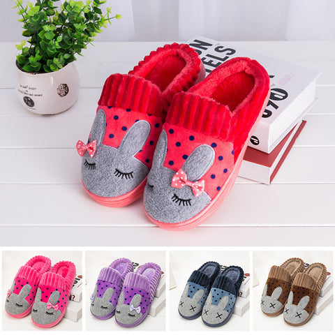 Home Slippers Cotton Men's Warm House Slippers Soft Bunny Slippers