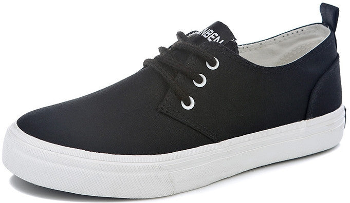 High quality low canvas shoes breathable flat-bottomed single
