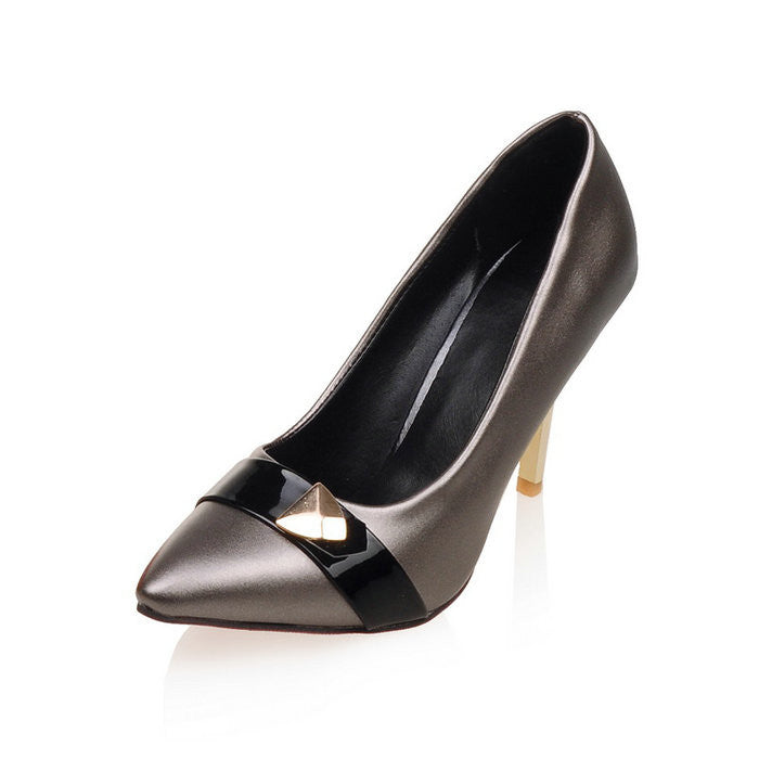 Shoes Patent Leather Pointed Toe Sexy Brand Design High