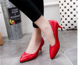 Patent Leather Pointed Toe Thin Heels Party High Heel Shoes