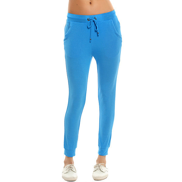 Solid Color Casual Pants Workout Fitness Leggings for Women