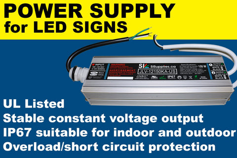 Power Supply for LED Signs (60 W) Class 2