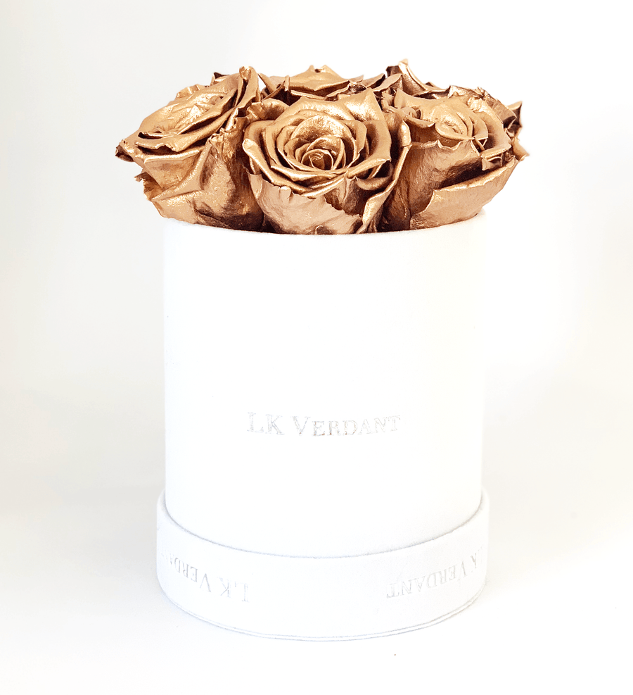 The Forever Rose White | Copper - Shop for Flowers and Forever Roses - LK VERDANT