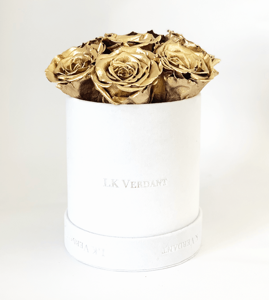 The Forever Rose White | Gold - Shop for Flowers and Forever Roses - LK VERDANT