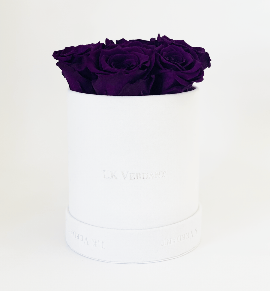 The Forever Rose White | Purple - Shop for Flowers and Forever Roses - LK VERDANT