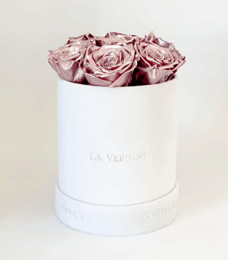 The Forever Rose White | Metallic Pink - Shop for Flowers and Forever Roses - LK VERDANT