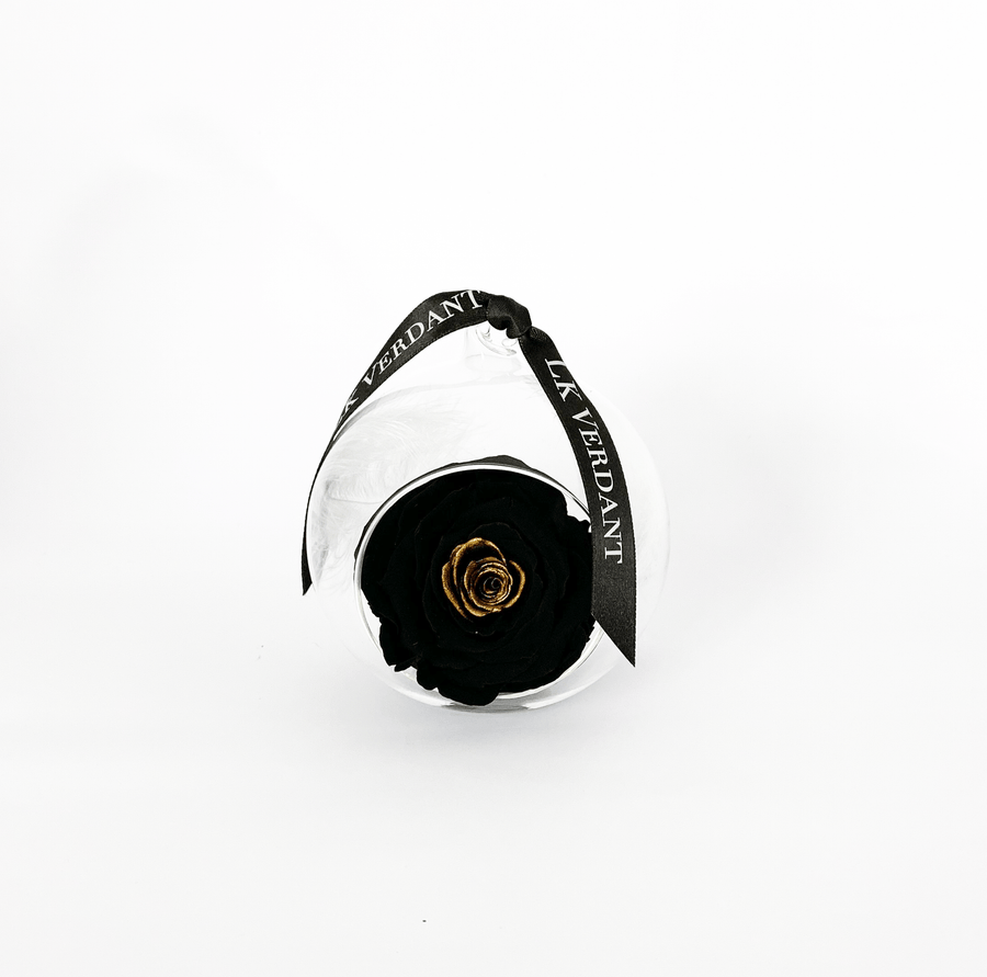 The Always Black And Gold Forever Rose - Shop for Flowers and Forever Roses - LK VERDANT