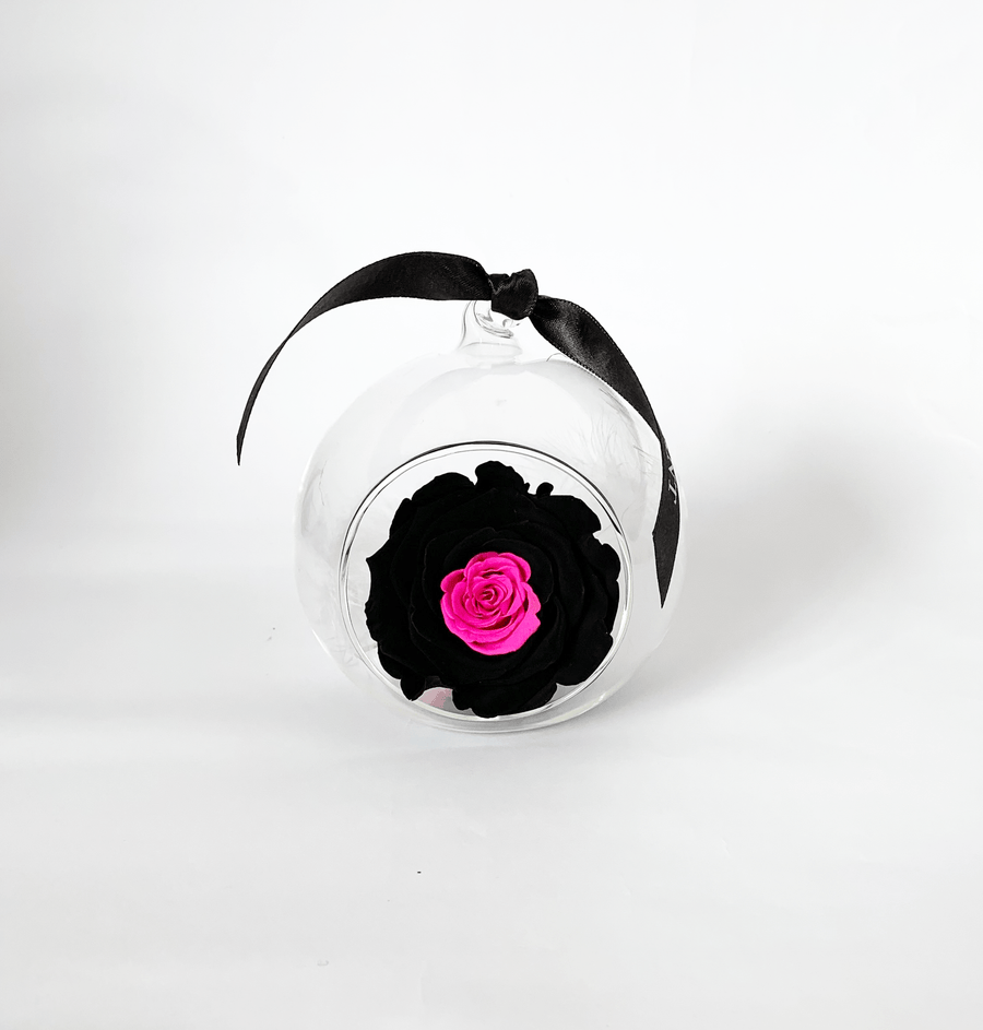 The Always Black And Pink Forever Rose - Shop for Flowers and Forever Roses - LK VERDANT