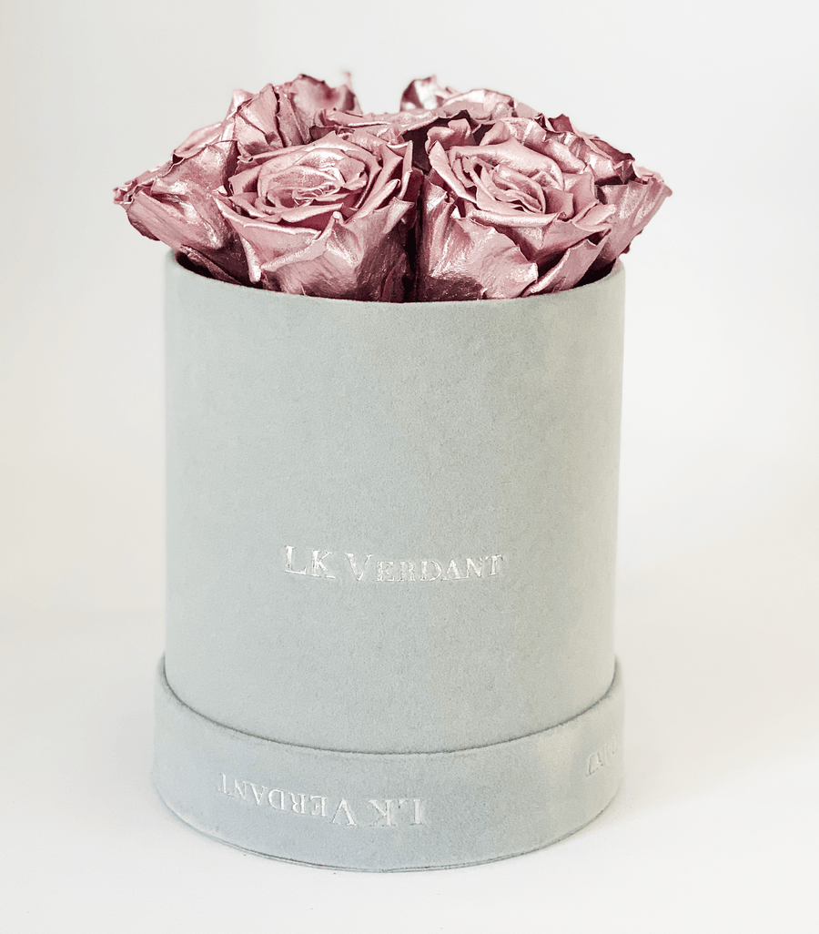 The Forever Rose Grey | Metallic Pink - Shop for Flowers and Forever Roses - LK VERDANT