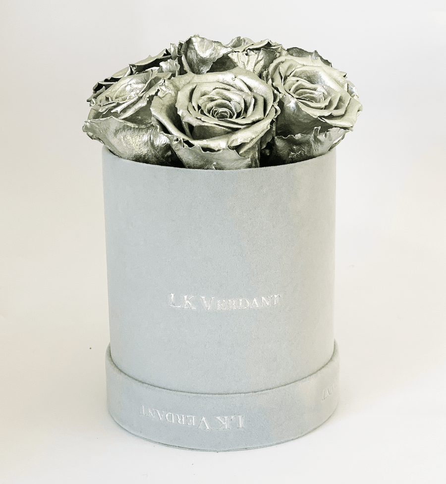 The Forever Rose Grey | Silver - Shop for Flowers and Forever Roses - LK VERDANT