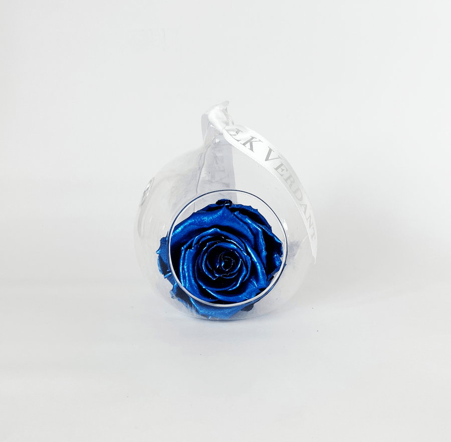 The Always Metallic Blue Forever Rose - Shop for Flowers and Forever Roses - LK VERDANT