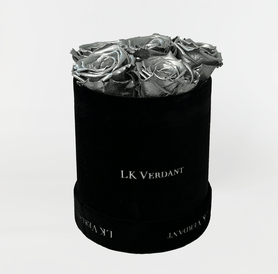 The Forever Rose Black | Silver - Shop for Flowers and Forever Roses - LK VERDANT