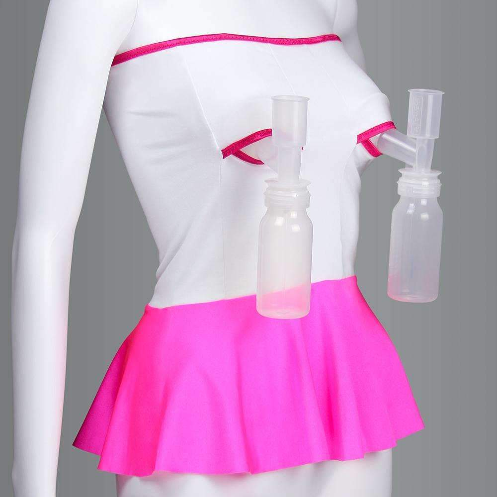 Breast-Pumping Band For C-Section Mothers in White and Pink