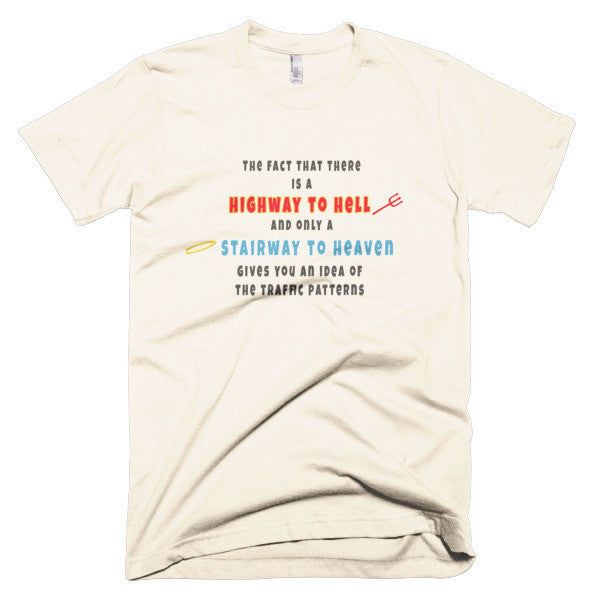 Stairway to heaven vs. Highway to hell shirt