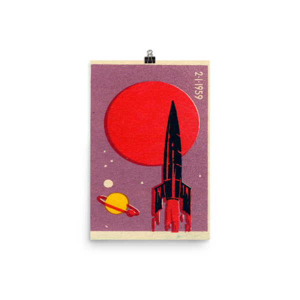 USSR Russian space poster vintage #4