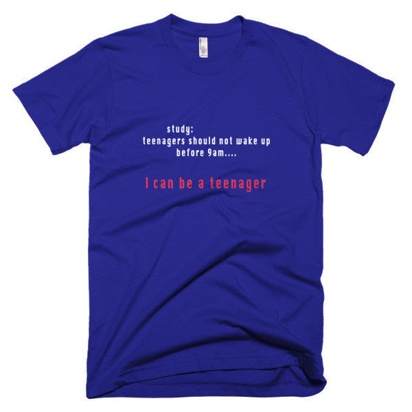 teenager wake up late shirt
