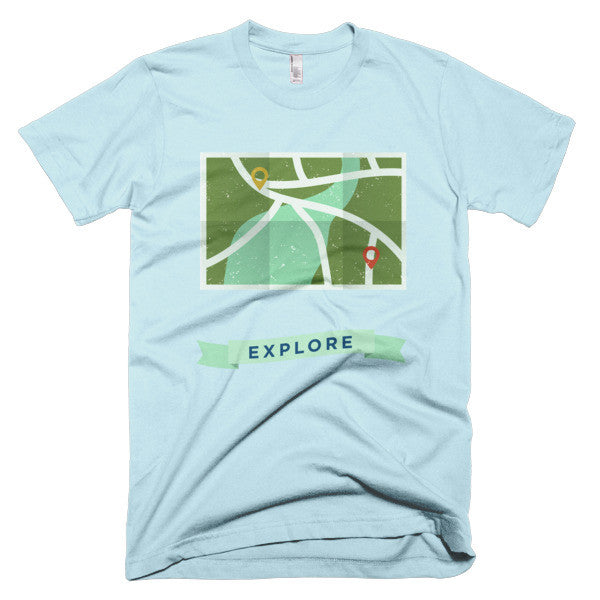 Explore the outdoors map shirt