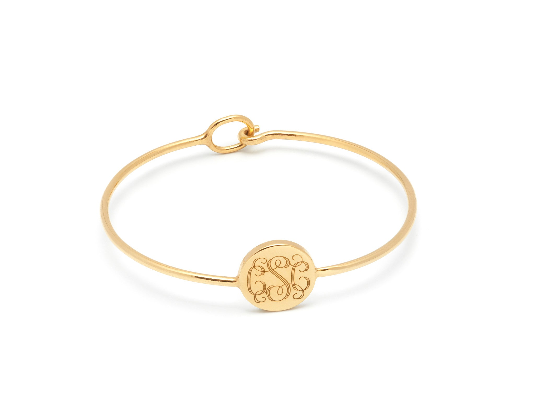 Monogram personalised bangle