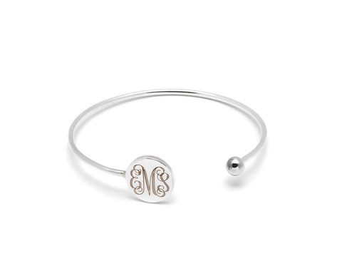 Monogram personalised cuff