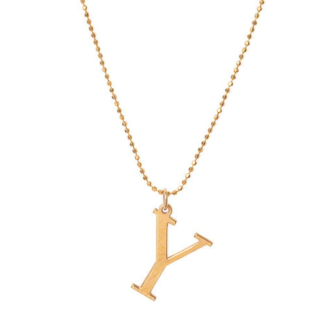 Initial Y Necklace- Available Now