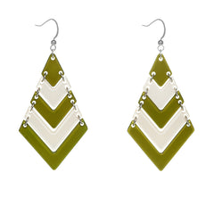 Olive Chevron Earrings