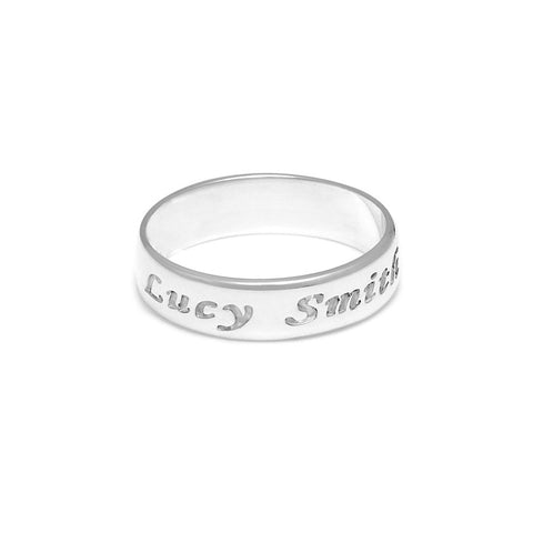Personalised Engraved Ring