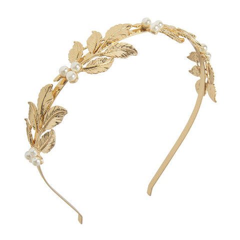 Gold Leaf Pearl Hairband