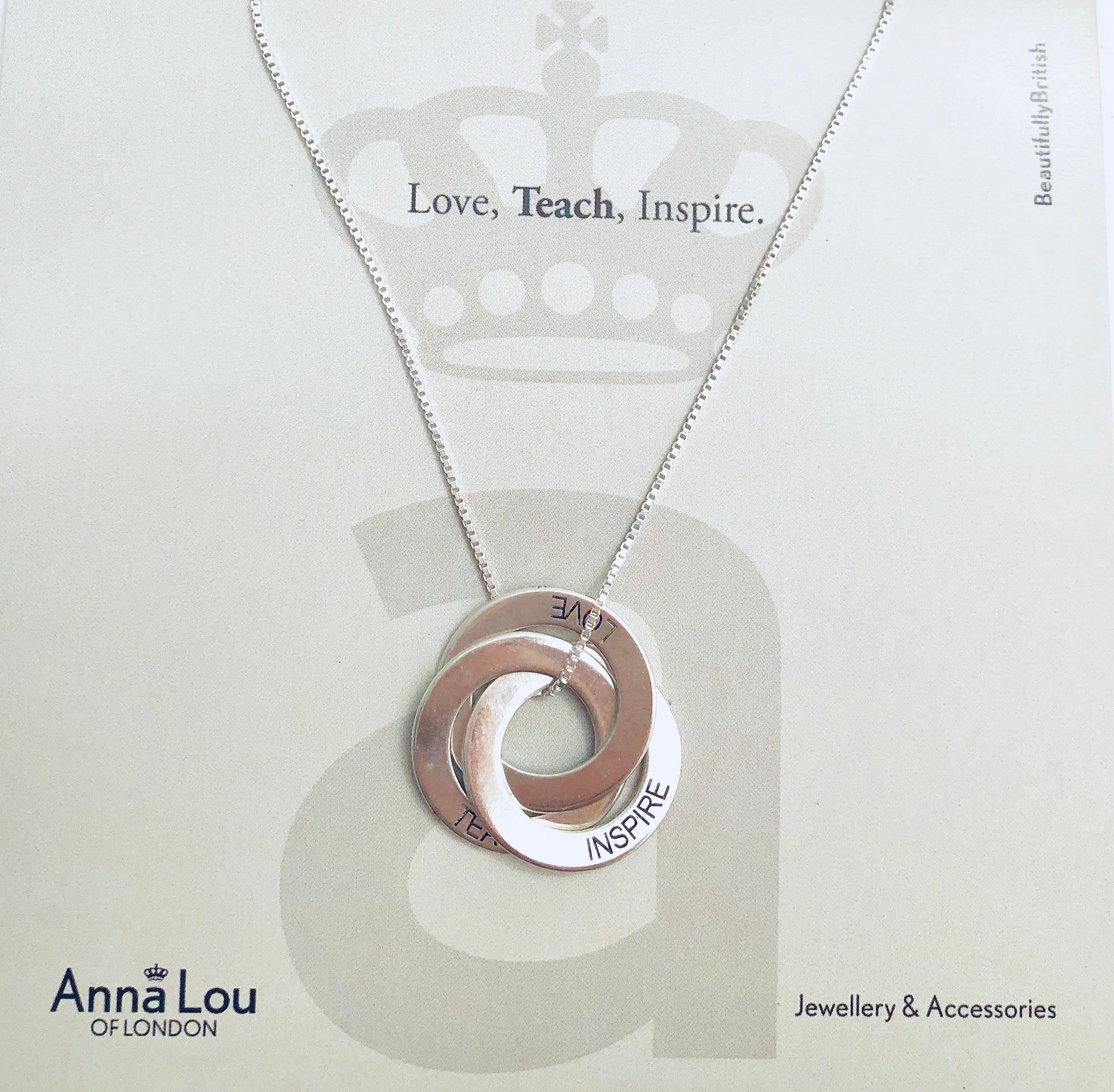 Teach Love Inspire necklace