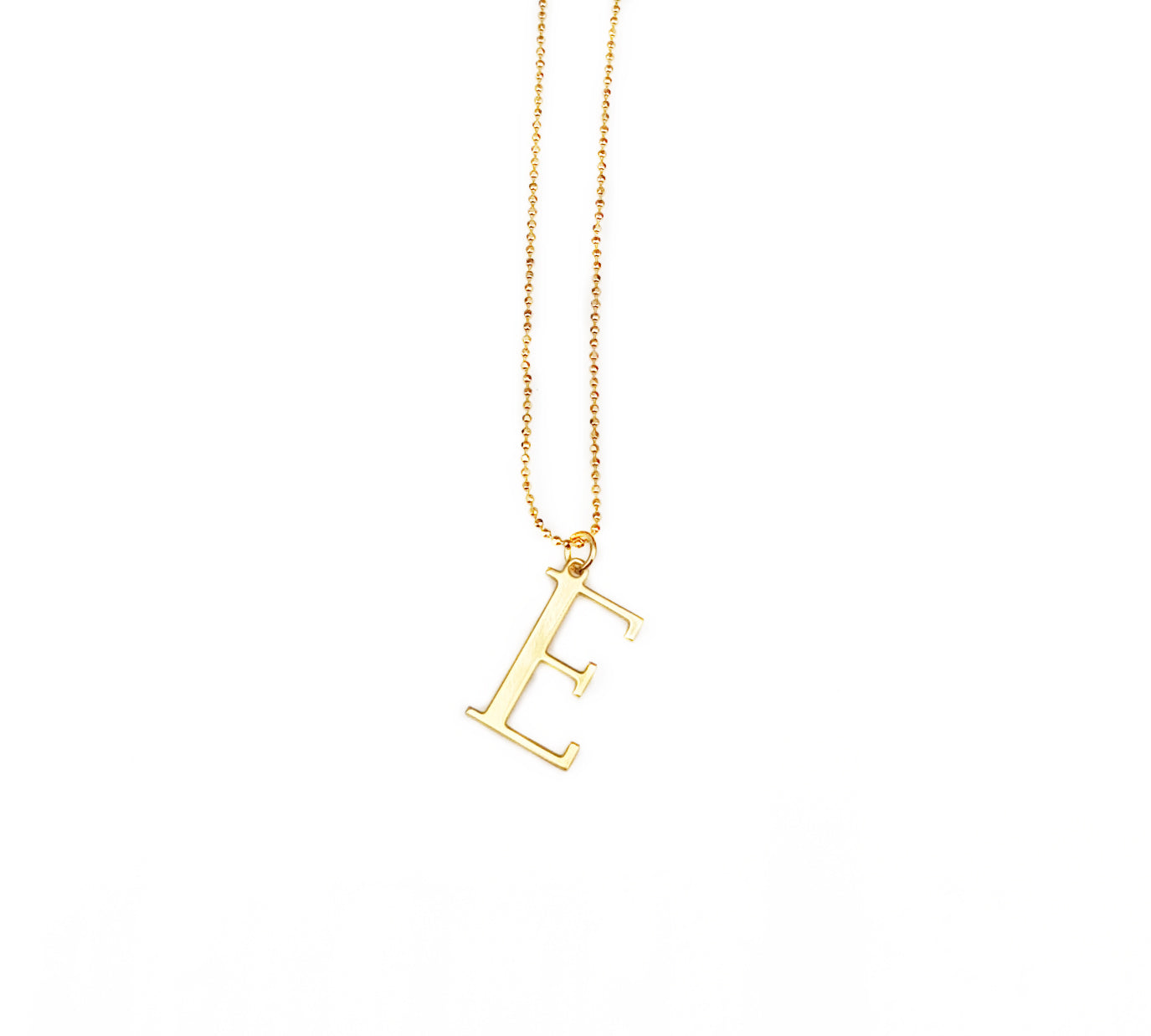 Initial E Necklace- Available Now