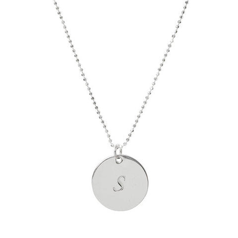 Initial S Disc Necklaces
