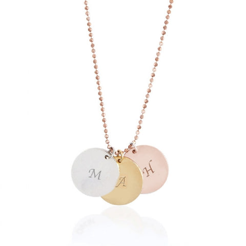 Initial Disc Necklace