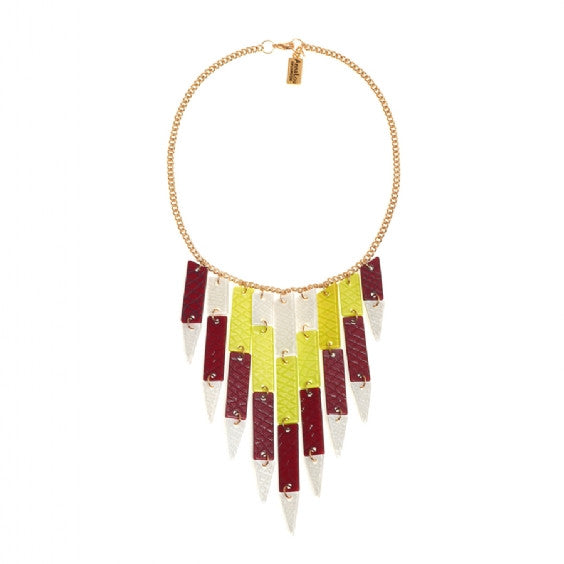 Feather Acrylic Necklace