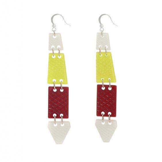 Feather Acrylic Earrings