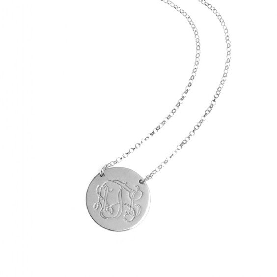 Monogram Disc Necklace