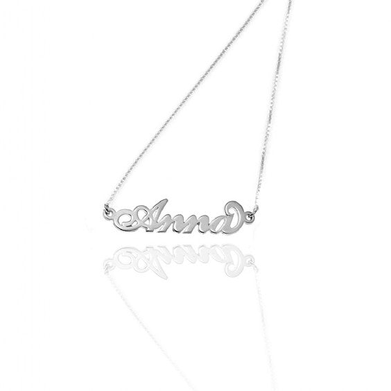 14kt White Gold Name Necklace
