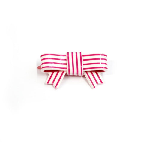 Stripy Bow Hairslide