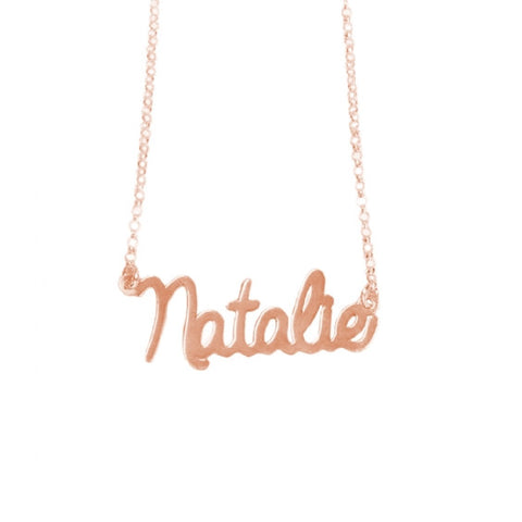 English Script Necklace