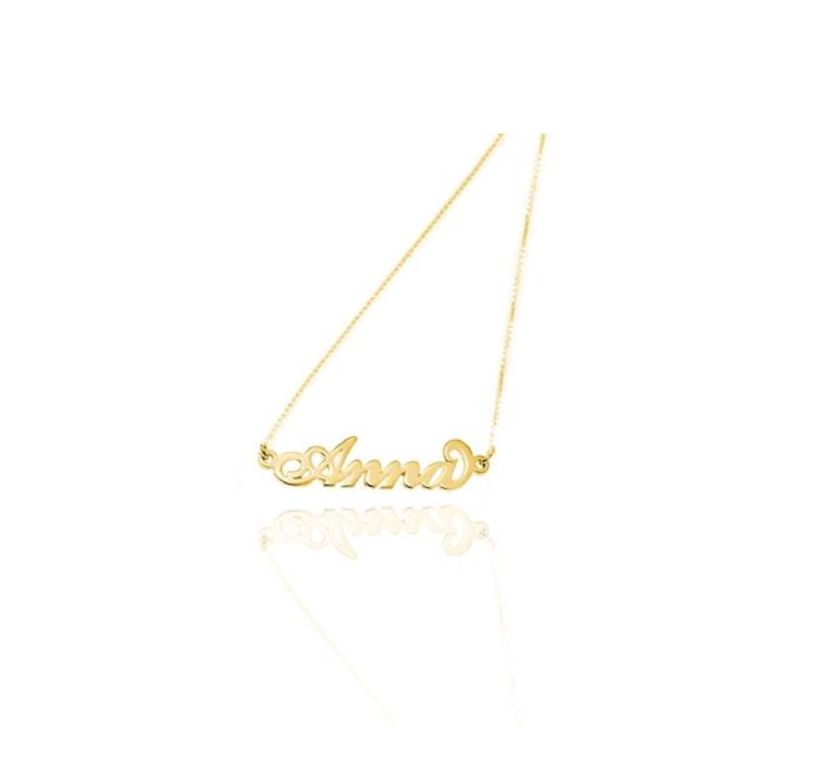 18kt solid gold name necklace