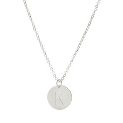 Initial K Disc Necklace