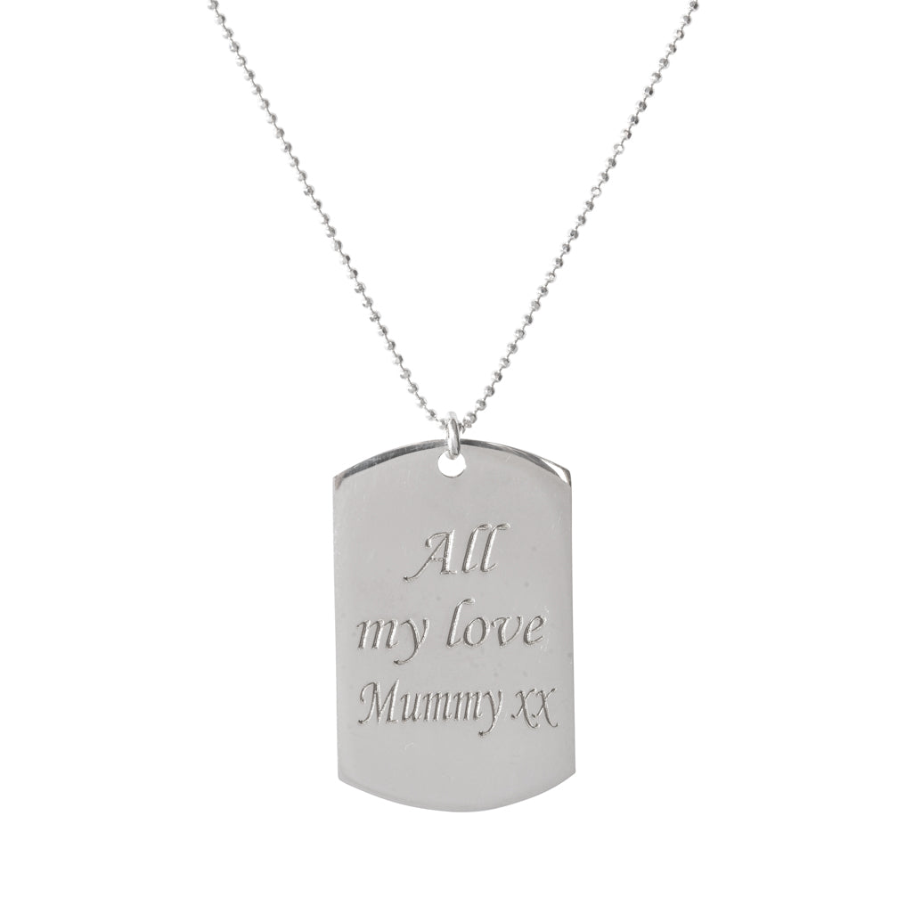 Personalised Identity Tag Necklace