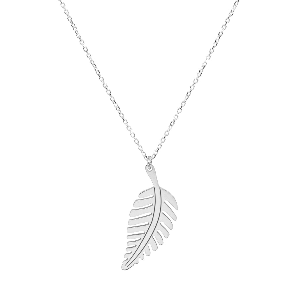 Vertical Leaf Necklace