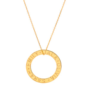 Names Circle Necklace