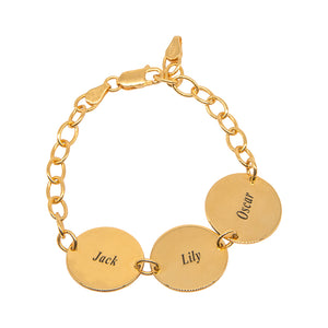 Name Triple Disc Bracelet
